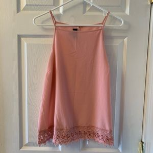Tops - NWOT - Gorgeous blush pink high neck tank top!